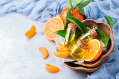 Mandarine essentielle organique, mandarine, huile de clémentine Photo libre de droits