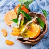 Mandarine essentielle organique, mandarine, huile de clémentine Photos stock