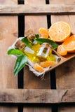 Mandarine essentielle organique, mandarine, huile de clémentine Photographie stock