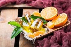 Mandarine essentielle organique, mandarine, huile de clémentine Image stock
