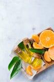 Mandarine essentielle organique, mandarine, huile de clémentine Photos libres de droits