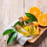Mandarine essentielle organique, mandarine, huile de clémentine Images stock