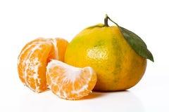 Mandarine et parts photo libre de droits