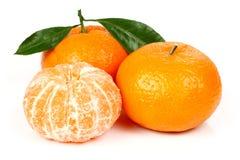 Mandarine fraîche avec des lames Photos stock