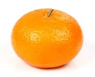 Mandarine fraîche d'isolement Photographie stock libre de droits