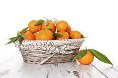 Mandarine fruit, provence style. Royalty Free Stock Photo