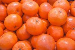 Mandarine. Fruits at a market stock image