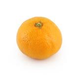 Mandarine, getrennt auf Weiß Stockfotografie