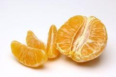 Mandarine getrennt auf weißem Hintergrund Stockbilder