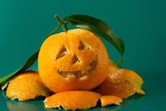 Mandarine Halloween Lizenzfreie Stockfotografie