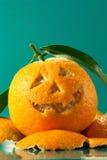 Mandarine Halloween Lizenzfreies Stockfoto