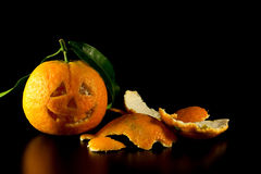 Mandarine Halloween Lizenzfreies Stockbild