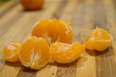 mandarine i pomarańcze Zdjęcie Stock