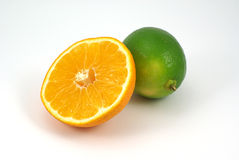 Mandarine and lime Royalty Free Stock Photo