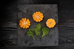 mandarine lumineux citron Un fruit lumineux Pour votre conception Image stock