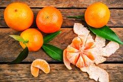 Mandarine mûre juteuse de mantarines photographie stock libre de droits