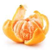 Mandarine mûre épluchée photographie stock libre de droits