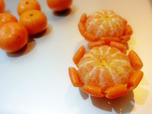 Mandarine/mandarine : Flower2 Photos libres de droits