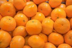 Mandarine. Fruits at a market stock photo