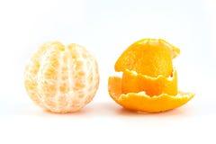 Mandarine oder Tangerine mit Schale Lizenzfreie Stockfotos