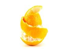 Mandarine oder Tangerine mit Schale Lizenzfreies Stockfoto