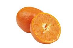 Mandarine orange d'isolement Images stock