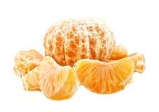 Mandarine parts Royalty Free Stock Photography