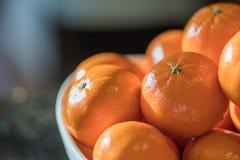 Mandarine pomarańcze w pucharze Zdjęcia Royalty Free