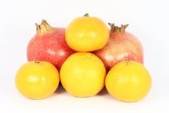 Mandarine and pomegranate Royalty Free Stock Photography