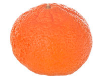 Mandarine simple d'isolement sur le blanc Image stock