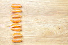 Mandarine slices Stock Image