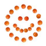 Mandarine smile Royalty Free Stock Photo
