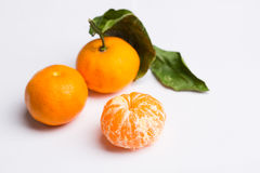 Mandarine sur le blanc Image stock