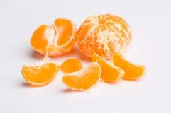 Mandarine sur le blanc Images stock