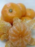 Mandarine/Tangerin : Astuce et fibre Photographie stock libre de droits