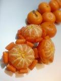 Mandarine/Tangerine: Flower1 Stockbild
