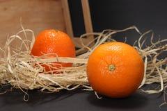 Mandarine zwei Stockfotos