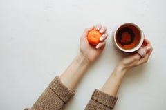 Mandarinefrucht ist geschmackvolles Lebensmittel lizenzfreies stockbild