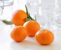 Mandarinen für Marmelade Lizenzfreie Stockfotos