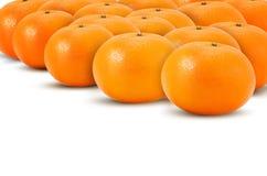 Mandarin som isoleras på vitbakgrund royaltyfri illustrationer