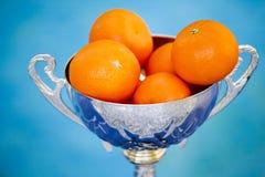 Mandarinensommer-Swimmingpooltag stockbilder