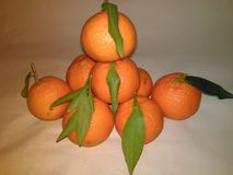 Mandarinenstapel Stockfotos