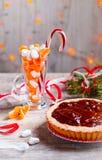 Mandarinentörtchen mit Schokolade Stockfoto