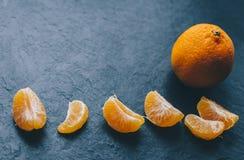 Mandariner på tabellen Royaltyfria Foton