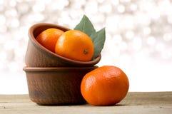 mandarines Fotografía de archivo libre de regalías