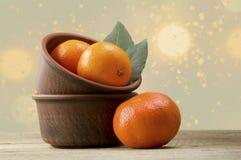 mandarines Fotos de archivo