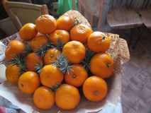 Mandarines bij de vooravond van Nieuwjaar stock fotografie