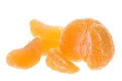 mandarines d'isolement enlevées Photos stock