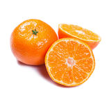 Mandarines d'isolement sur le blanc image stock