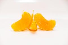 Mandarines d'isolement sur le blanc Photo stock